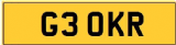 KR 3 OKR 30 THIRTY INITIALS Private CHERISHED Registration Number Plate